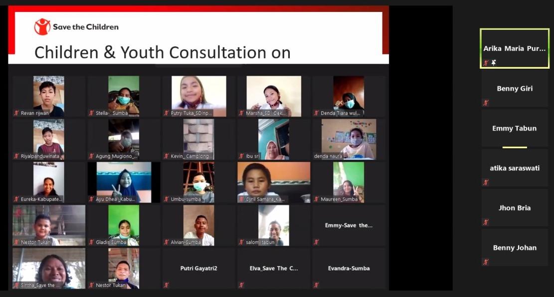 Foto lokakarya daring untuk menyusun rencana strategis Save the Children Indonesia 2022-2024